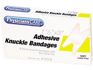 Elastic Knuckle Adhesive Bandages, 4 x 2-1/2 x 5/8, 8/Box