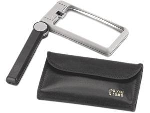 "Bausch & Lomb 819013 2X Folding Lighted Handheld Magnifier w/Acrylic Lens, 4"" x 2"""