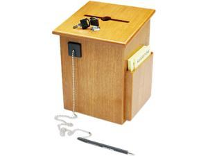 Buddy Products 5622-11 Solid Wood Suggestion Box with Locking Top, 7-1/2 x 7-1/4 x 10, Medium Oak