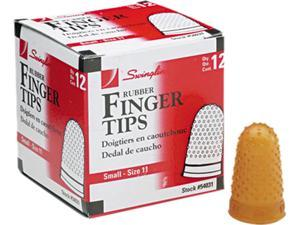 Swingline 54031 Rubber Finger Tips, Size 11, Small, Amber, 12/Pack