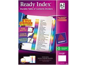 Avery 11125 Ready Index Contemporary Table of Content Divider, Title: A-Z, Multi, Letter