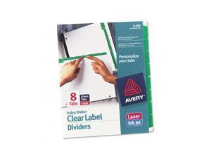 Avery                                    Index Maker Divider w/Color Tabs, Green 8-Tab, Letter, 5 Sets/Pack