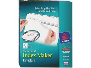 Avery 11447 - Index Maker Clear Label Dividers, 8-Tab, Letter, White, 25 Sets