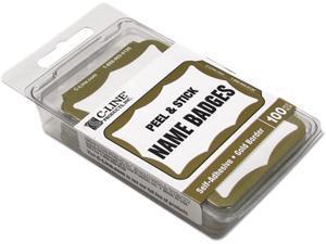 C-line 92266 Self-Adhesive Name Badges, 2 x 3-1/2, Gold, 100/Box