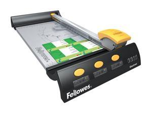 "Fellowes Electron 180 18in Rotary Small Office Trimmer ,4 x Blade(s) - Cuts 10 Sheet - 18"" Cutting Length - Metal Base"