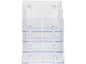 Multi Compartment DocuHolder, 4 Compartments, 9-1/4w x 7d x 13-1/2h, Clear