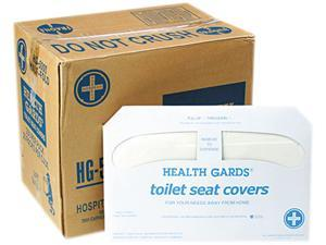 Hospital Specialty Co. HG-5000CT Health Gards Toilet Seat Covers, White, 250 Covers/Pack, 20 Packs/Carton