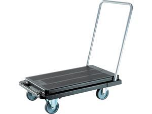 Deflect-o CRT5500-04 Heavy-Duty Platform Cart, 500lb Capacity, 20-9/10w x 32-5/8d x 9h, Black