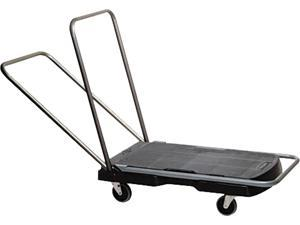 Rubbermaid Commercial 440000 Utility-Duty Home/Office Cart, 250 lb Capacity, 20-7/8 x 31-3/4 Platform, BK