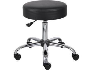BOSS Office Products B240-BK Caressoft Backless Faux Leather Doctor's Stool