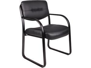BOSS Office Products B9529 Black LeatherPlus Guest Chairs