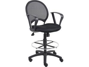 Boss B16217 Mesh Drafting Stool with Loop Arms