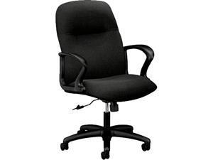 HON H2072.H.CU10.T Gamut Series Managerial Mid-Back Swivel/Tilt Chair, Black