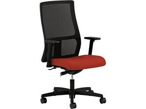 Cosco HIWM2.A.H.U.CU42.T.S Ignition Series Mesh Mid-Back Work Chair, Poppy Fabric Upholstered Seat