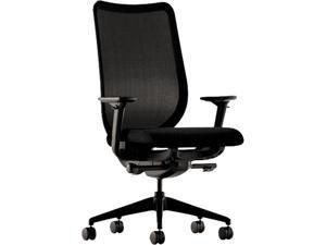 HON N103NT10 Nucleus Series Work Chair, Black ilira-stretch M4 Back, Black Seat