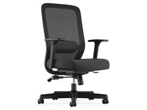 Basyx by HON VL721 Series Mesh Executive Chair, Mesh Back, 100% Polyester Seat, Black