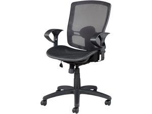 Alera Etros Series ET4218 (ALEET4218) Suspension Mesh Mid-Back Synchro Tilt Chair, Mesh Back/Seat, Black