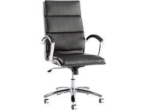 Alera Neratoli Series NR4119 (ALENR4119)High-Back Swivel/Tilt Chair, Black Soft Leather, Chrome Frame