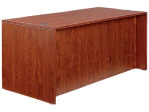 "65"" x 29 1/2"" Valencia Series Straight Front Desk Shell - Medium Cherry"