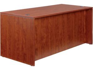 "65"" x 29 1/2"" Valencia Series Straight Front Desk Shell - Medium Cherry"