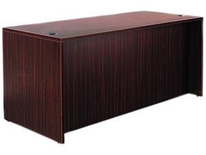 "65"" x 29 1/2"" Valencia Series Straight Front Desk Shell - Mahogany"