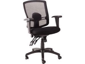 Alera Etros Series ET4017 (ALEET4017) Petite Mid-Back Multifunction Mesh Chair, Black