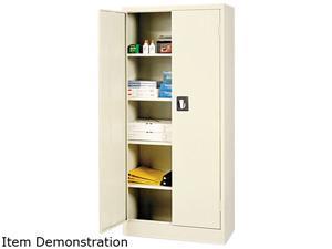 "Alera ALE86630 (ALECM6615PY) Space Saver 66"" High Storage Cabinet, 4 adjustable Shelves, 30w x 15d x 66h, Putty"