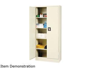 "Alera Space Saver 66"" High Storage Cabinet, 4 adjustable Shelves, 30w x 15d x 66h, Putty"