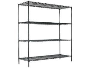 Alera 6018INDSHFKIT (ALESW206018GN) All-Purpose Wire Shelving Starter Kit, 4 Shelves, 60w x 18d x 72h, Green
