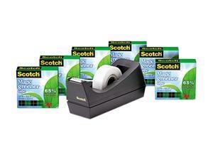 """Scotch 812-6PC38 Magic Greener Tape, with C38 Dispenser, 3/4"""" x 900"""", 6 Rolls/Pack"""