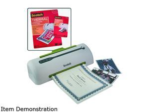 "Scotch MMMLAMKIT1 Pro 9"" Laminator Value Pack, 20 Each: 8 1/2 x 11 and 4 x 6 Laminating Pouches"