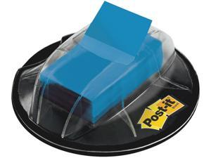 3M 680HVBE Post-it Flags in a Desk Grip Dispenser