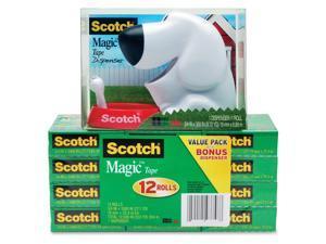 3M 810K12C31DOG Magic Tape Dog Dispenser Value Pack