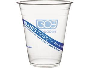 Eco-Products EP-CR12PK 12 oz BlueStripe Cold Cups - 50/Pack
