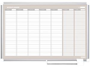 Bi-Silque GA0396830 MasterVision Weekly Planner, 36x24, Aluminum Frame