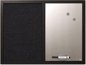 Bi-Silque MX04433168 MasterVision Combo Bulletin Board, Bulletin/Dry Erase, 18x24, Black Frame