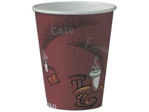 SOLO Cup Company 378SI-0041 8 oz Bistro Single Sided Poly Paper Hot Cup