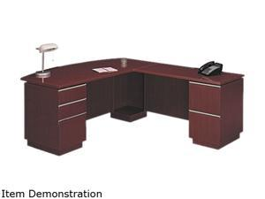 "72""W RH Double Pedestal L-Desk (B/B/F,F/F) Box 2 Milano 2 Harvest Cherry"