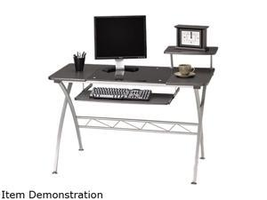 Mayline 972ANT Eastwinds Vision Computer Desk, 47 1/4 w x 27d x 34h, Anthracite with Black Glass
