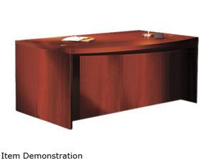 Mayline Aberdeen Series Laminate Bow Front Desk Shell, 72w x 42d x 29 1/2 h, Cherry