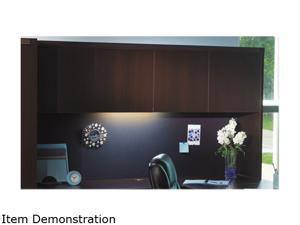 Mayline Aberdeen Series Aberdeen Series Laminate Wood Door Hutch, 72w x 15d x 39 1/4 h, Mocha