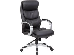 Boss Office Supplies B8881 Hinged Arm Executive Chair With Synchro-Tilt