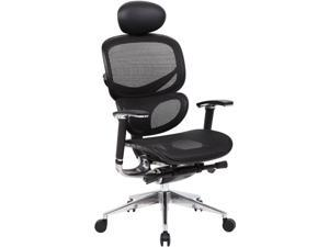 Boss Office Supplies B6888-BK-HR Multi-Function Mesh Chair W/ Head Rest