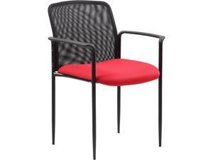 Boss Office Supplies B6909-RD Stackable Mesh Guest Chair - Red