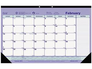 Blueline C181700 Brownline Monthly Desk Pad Calendar