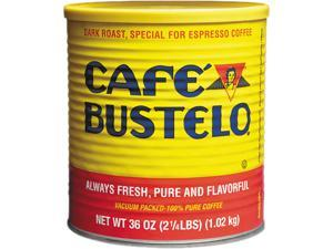 Café Bustelo 00055 Espresso Ground Coffee Caffeinated - Espresso - Dark - 36 oz Per Can - 1 Each