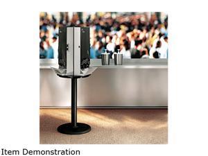 Dixie SSBASE08 18 1/4 dia x 42h Black SmartStock Cutlery Dispenser Stand