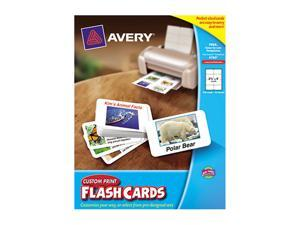 "Avery Custom Print Flash Cards, 2-1/2"" x 4"", 200 Cards"