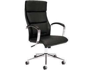 Basyx VL105SB11 Executive High-Back Chair Leather Black Seat