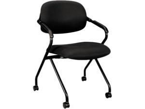 Basyx HVL303.MM10.T Upholstered Back Nesting Chairs - Black Frame